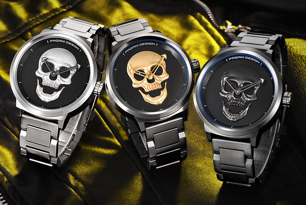 LIMITED EDITION ORCALLO 3D SKULL WATCH  [FREE SHIPPING]