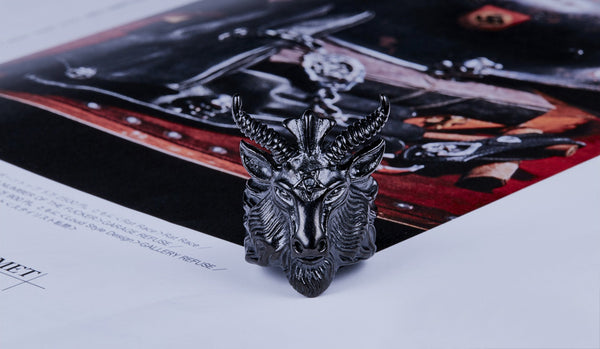 LIMITED EXCLUSIVE Stainless Steel Baphomet Ring [200 PIECES ONLY]