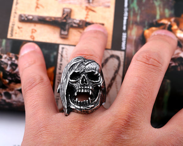 Exclusive Badass Emo Skull Ring