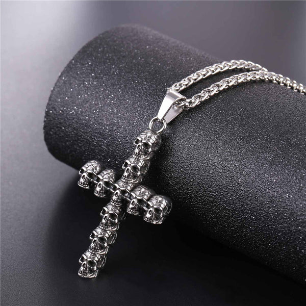 ORCALLO VINTAGE CROSS SKULL NECKLACE