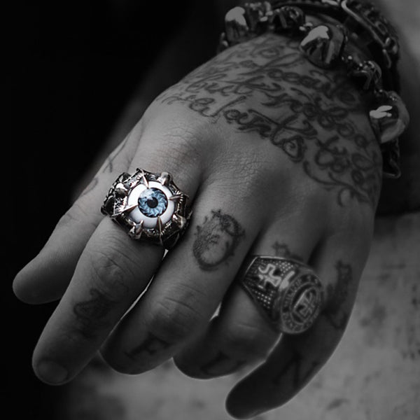 EXCLUSIVE RAZOR EVIL EYE RING