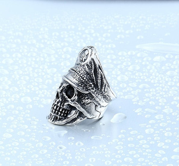 High Quality Badass Soldier Skull Ring