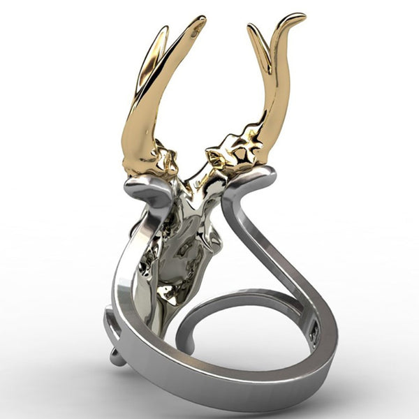 [FREE SHIPPING] LIMITED GOLD HORN DEER RING