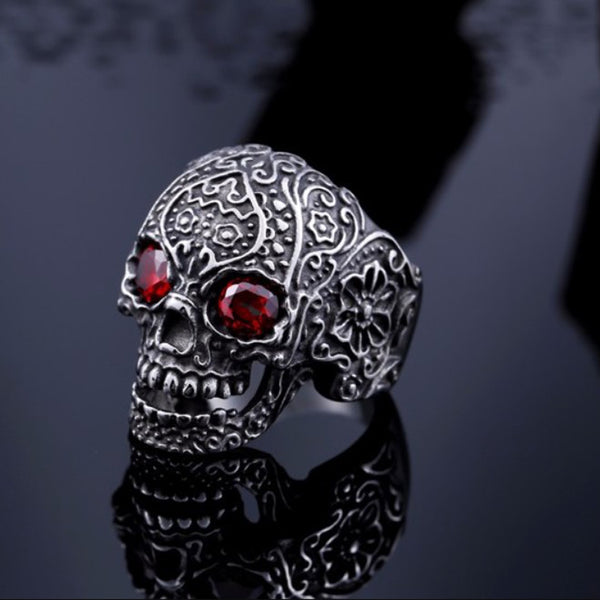 LIMITED 200 PIECES EXCLUSIVE HANDCRAFT SUGAR SKULL RING [FREE SHIPPING]
