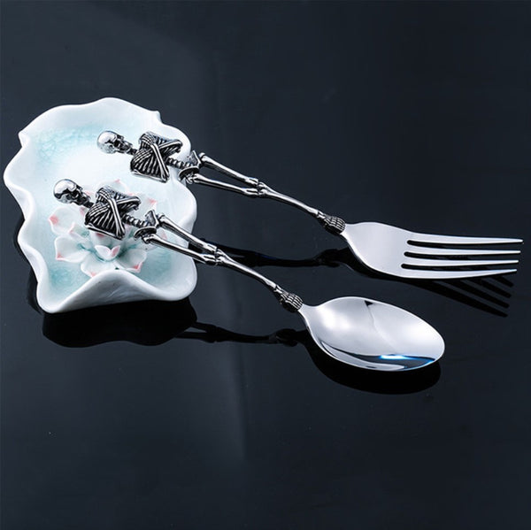 """LIMITED ORCALLO"" SKULL 1 SET SPOON & FORK [FREE SHIPPING]"