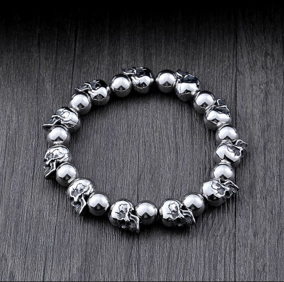 HIGH QUALITY 316L STAINLESS STEEL SKULL BRACELET
