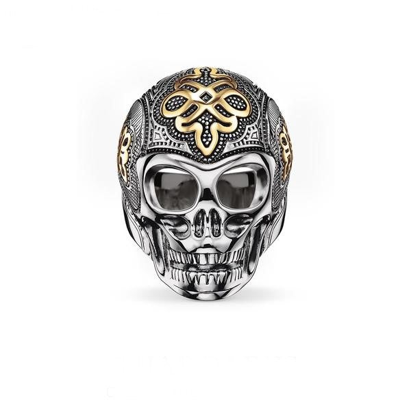 Orcallo Gold Skull Ring