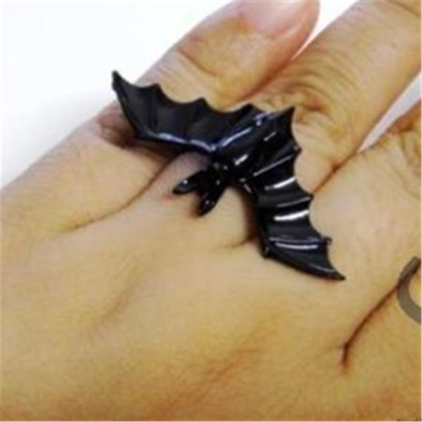 ORCALLO Goth Black Bat Ring [Free Shipping]