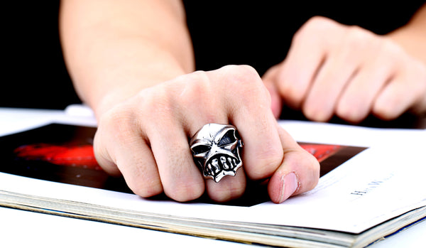 Cool Punk Animation Skull Ring