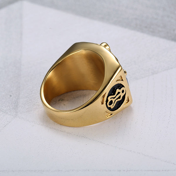 Masonic Gold  Freemason Ring