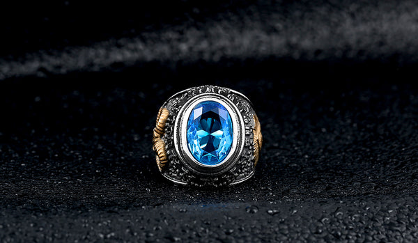 LIMITED EXCLUSIVE Retro Blue Topaz Ring [FREE SHIPPING]