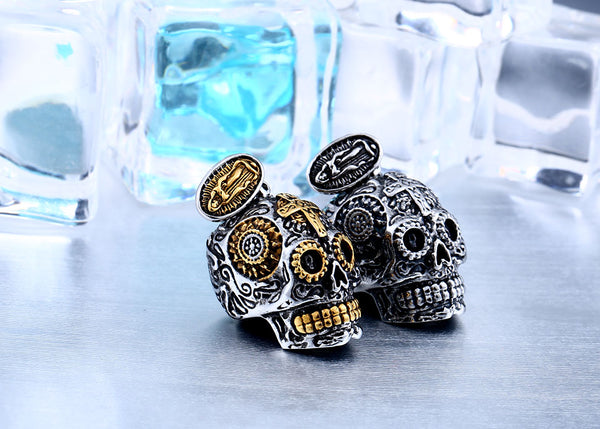 High Quality Gothic Carving Skull Pendant