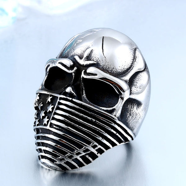 Internet Exclusive 2018 Classic American Biker Skull Ring
