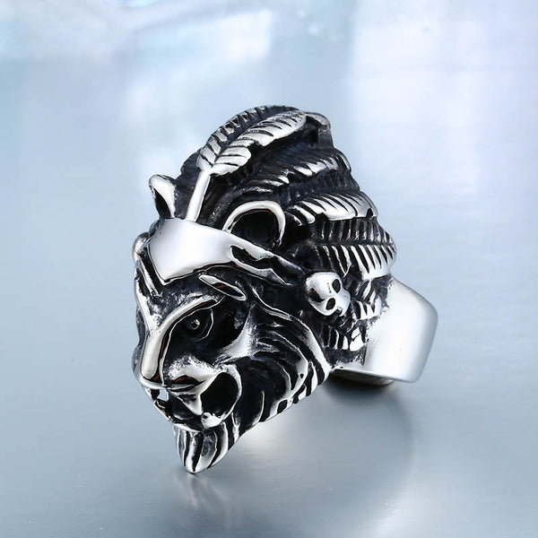High Quality Big Lion Head Ring