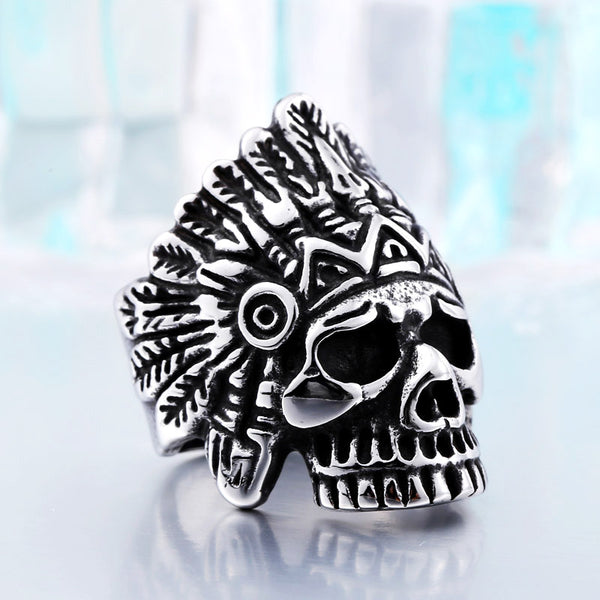 2018 New Indiana Skull Ring