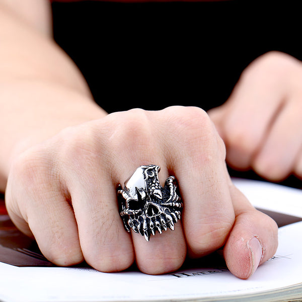 HANDMADE SKULL MONSTER RING [FREE SHIPPING]
