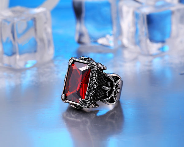 New 2018 High Quality Dragon Claw Stone Ring