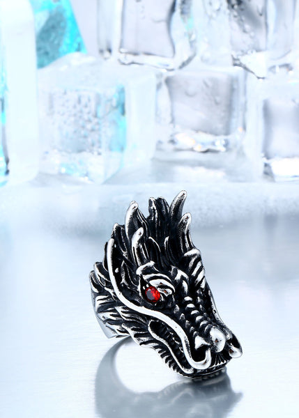 Giant Dragon Head Ring