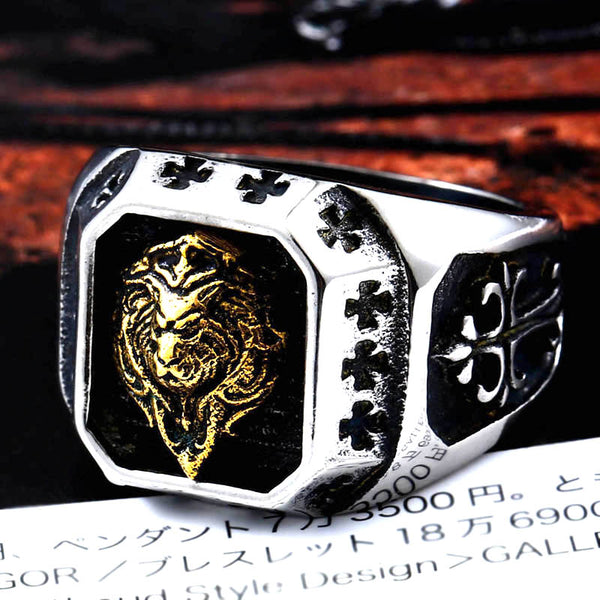 2018 Internet Exclusive Gold Lion Head Rings