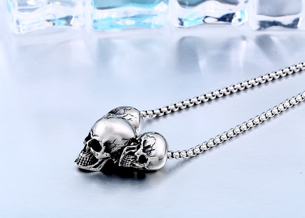 LIMITED Triple the Trouble Skull Necklace [Free Shipping]