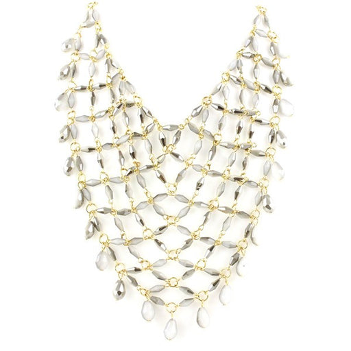 Wide Web Oversized Bib Choker Necklace