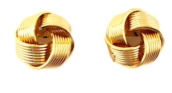Sleek Knot Gold-Plated Studs