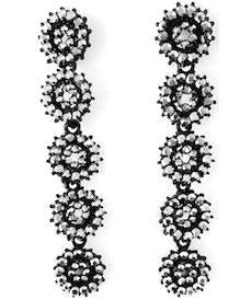 Five Linear Drop Earrings