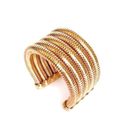 Chunky Gold-Plated Metal Cuff