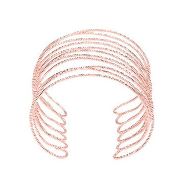 Oversized Rose Gold-Plated Cuff