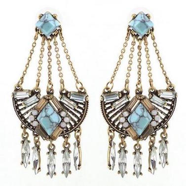 Blue Bohemian Statement Earrings