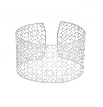 Silver Plated Filigree Cutout Cuff