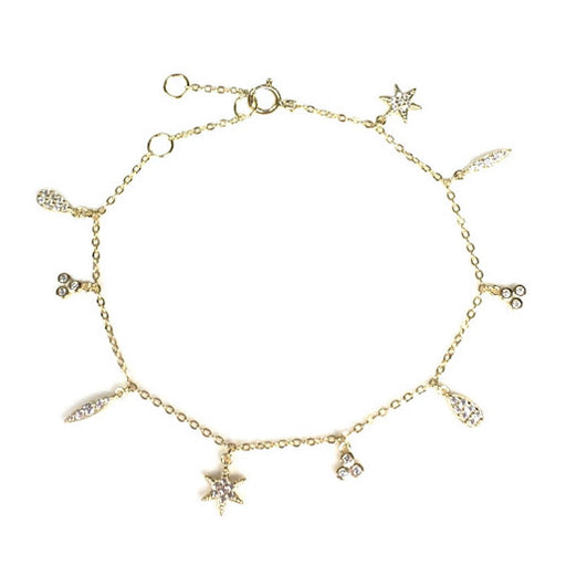 Gold-Plated Sterling Silver Charm Bracelet