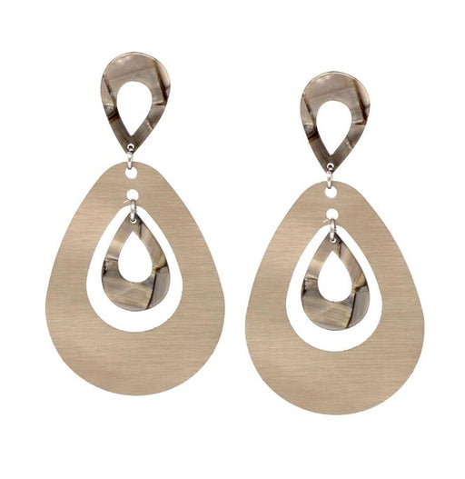 aluminum and resin oversized statement earrings