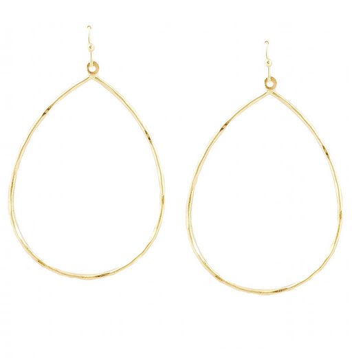 lightweight simple teardrop hoop earrings