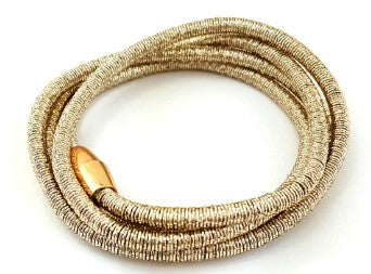 Gold-Plated Coil Wrap Magnetic Bracelet