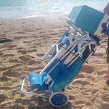 beach cart on the beach