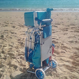 beach cart with beach equipment