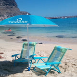 beach package, light blue, 2 chair and umbrella i blanket gratis