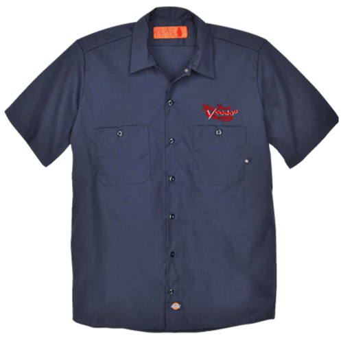 Embroidered Work Shirt - Navy