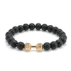 (Signature Item!) Fit 4 Life Barbell Lava Stone Bracelet