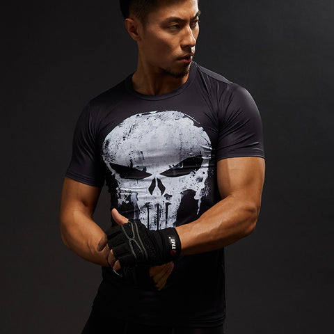 Compression Skull Crossfit T-Shirt