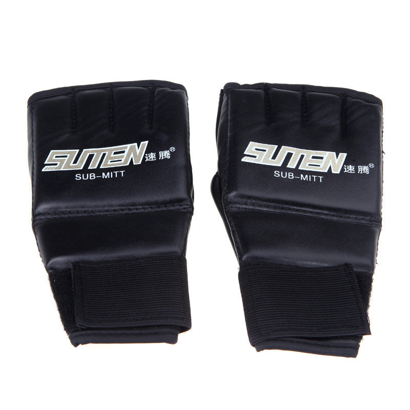 1 Pair PU Leather MMA/Muay Thai/Boxing Sparring Gloves