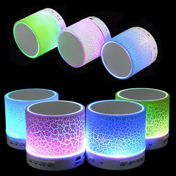 Portable Mini LED Bluetooth/Wireless Speakers with Mic