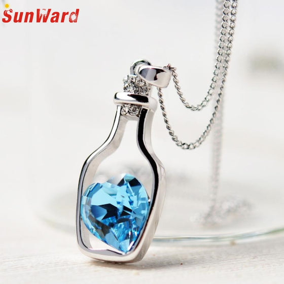 Love Drifts Bottle Crystal Chain Pendants