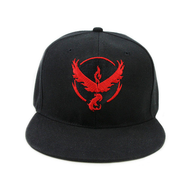 Pokemon Go Team Valor/Team Mystic/Team Instinct Snapback Cap