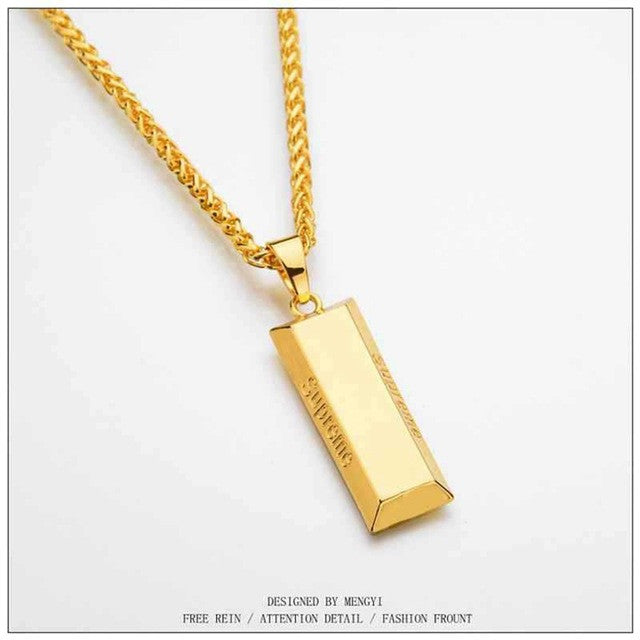 (Punk/Dance Fashion) Gold Plated Gold Bar Necklace