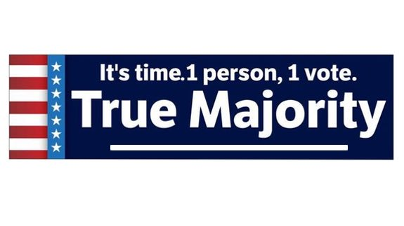 1 person 1 vote bumper sticker - Free Shipping!