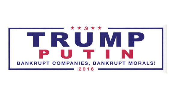 Trump Putin 2016 Bumper Sticker - Free Shipping!
