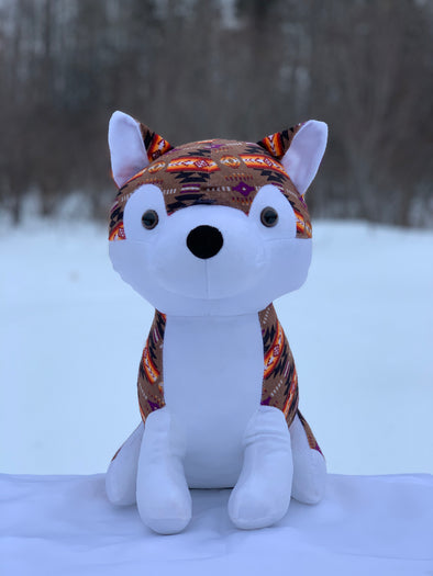 Plush Toy - Large Husky - Brown
