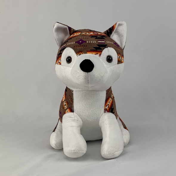 Plush Toy - Small Husky - Brown